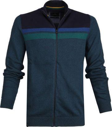 Vanguard Mouline Zip Jacket Dark Green
