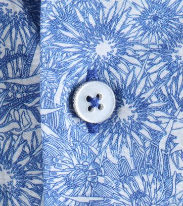 Detail Vanguard Overhemd Blauw Prints