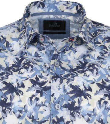 Vanguard Overhemd Bloemen Patroon Donkerblauw