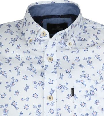 Vanguard Overhemd Bloemen Wit