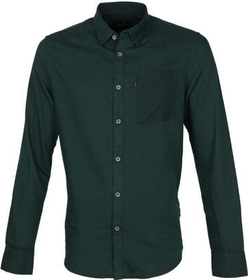 Vanguard Overhemd Donkergroen
