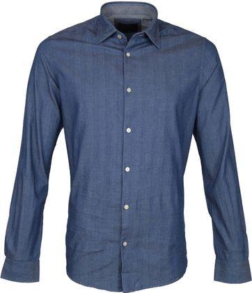 Vanguard Overhemd Indigo Blauw