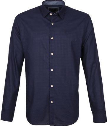 Vanguard Overhemd Patroon Blauw
