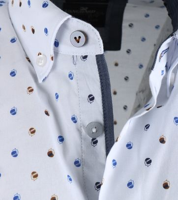Detail Vanguard Overhemd Wit Prints