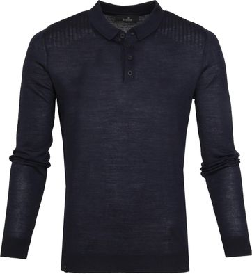 Vanguard Polo LS Wool Navy