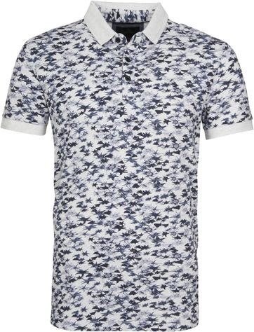 Vanguard Polo Navy Flowers