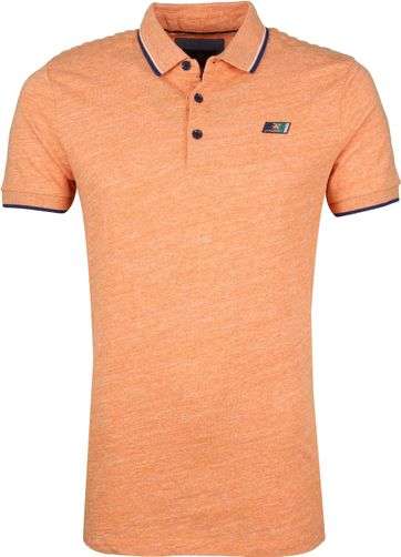 Vanguard Polo Shirt Mouline Jersey Orange