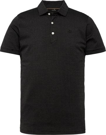 Vanguard Polo Shirt Punkte Schwarz