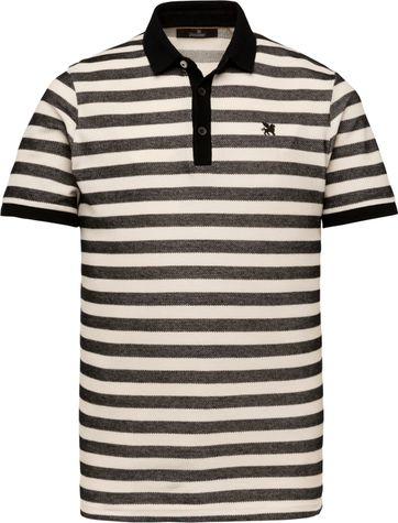 Vanguard Polo Shirt Streifen Schwarz