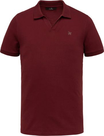 Vanguard Polo Shirt Stretch Bordeaux Red