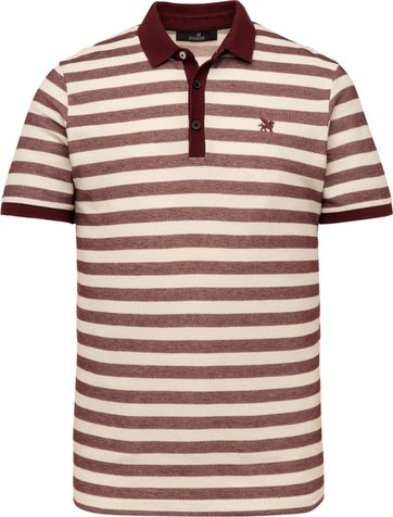 Vanguard Polo Shirt Stripes Bordeaux