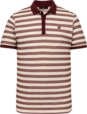 Vanguard Polo Strepen Bordeaux Rood