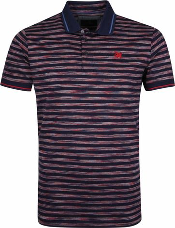 Vanguard Polo Strepen Navy