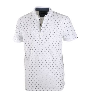 Vanguard Polo Wit Print