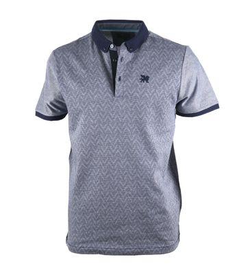 Vanguard Poloshirt Donkerblauw Dessin