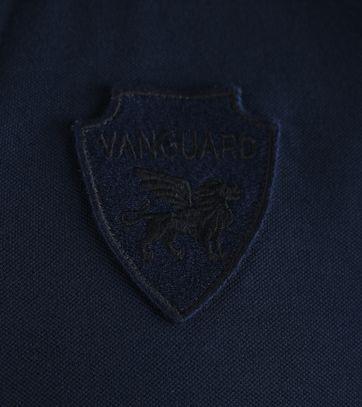 Detail Vanguard Poloshirt Donkerblauw Stretch
