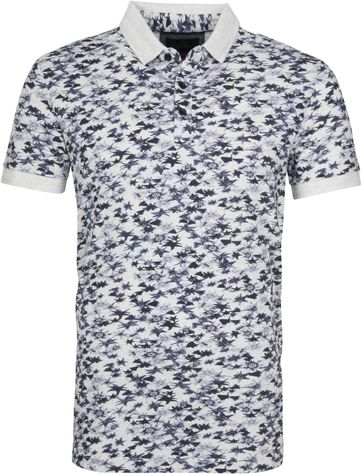 Vanguard Poloshirt Navy Flowers