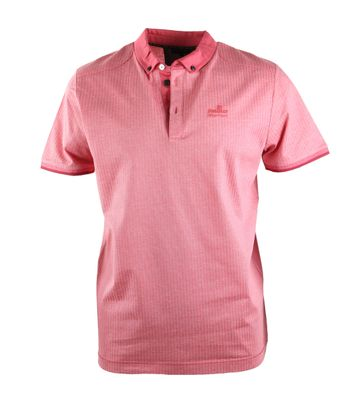 Vanguard Poloshirt Rood Jacquard