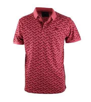 Vanguard Poloshirt Rood Print