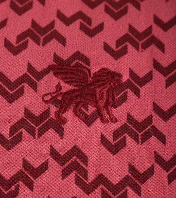 Detail Vanguard Poloshirt Rood Print