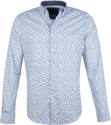 Vanguard Print Overhemd Bloemen Blauw