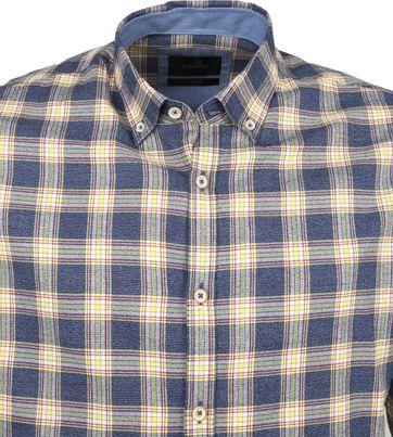 Vanguard Print Shirt Blocks Blue Beige