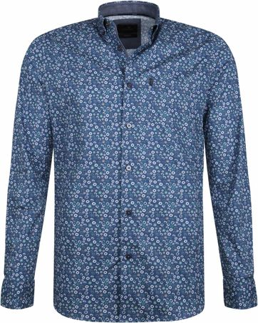 Vanguard Print Shirt Circle Blue