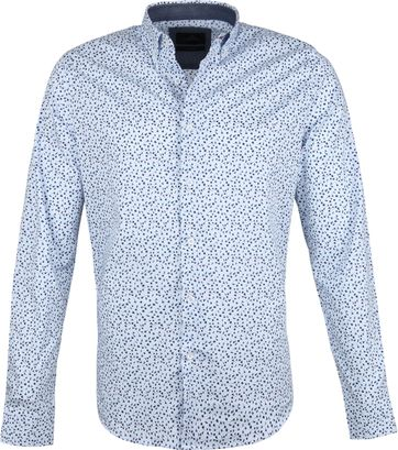 Vanguard Print Shirt Flowers Blue