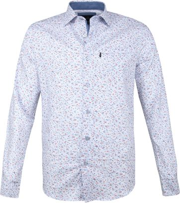 Vanguard Print Shirt Motor Blue