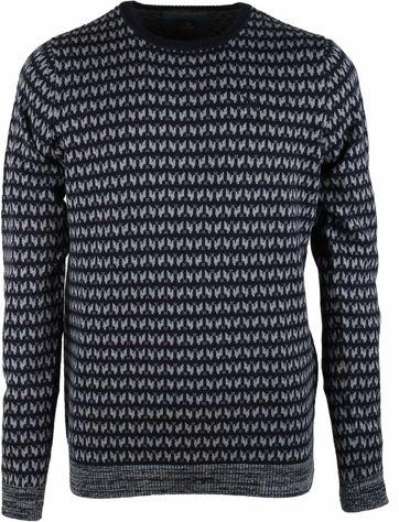 Vanguard Pullover O-neck Dunkelblau Grafik