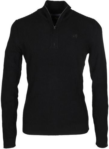 Vanguard Pullover Reißverschluss Schwarz