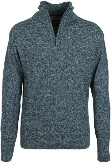 Vanguard Pullover Zipper Donkergroen