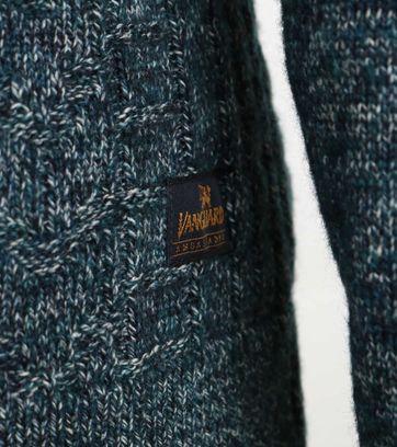 Detail Vanguard Pullover Zipper Donkergroen