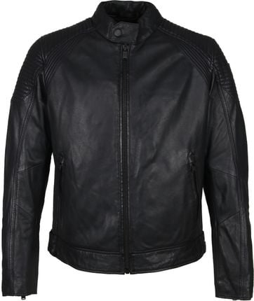 Vanguard Sheep Veg Oily Leather Jacket Anthracite