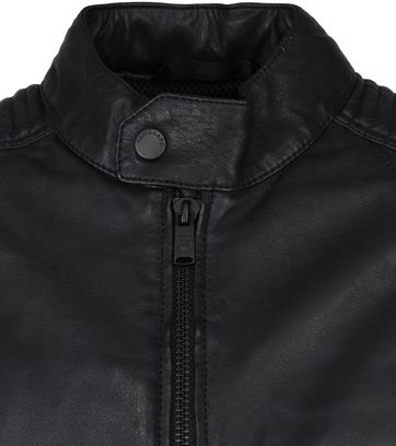 Vanguard Sheep Veg Oily Leather Jacket Anthracite