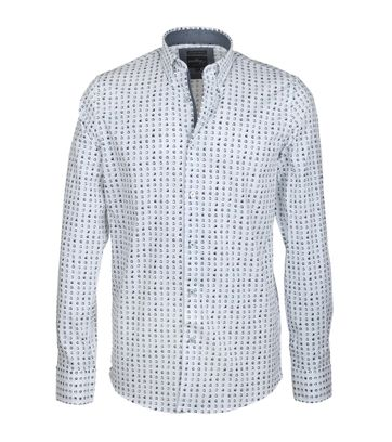 Vanguard Shirt Casual Wit Stippen