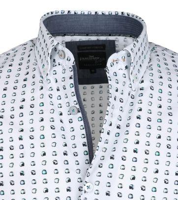 Detail Vanguard Shirt Casual Wit Stippen