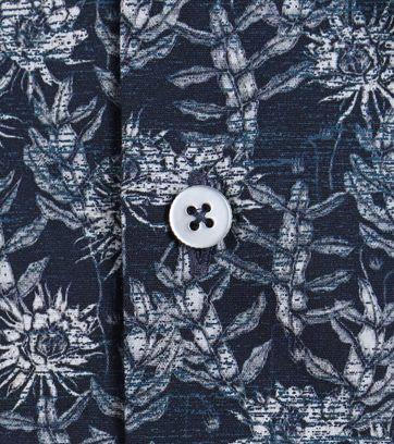 Detail Vanguard Shirt Donkerblauw Bloemen