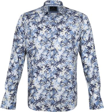 Vanguard Shirt Flower Pattern Dark Blue