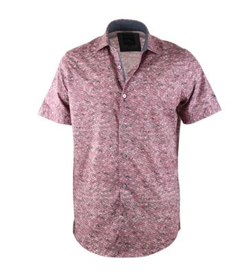 Vanguard Shirt Rood Print