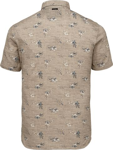 Vanguard Short Sleeve Shirt Flowers Beige