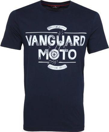 Vanguard T-shirt Dunkelblau Print