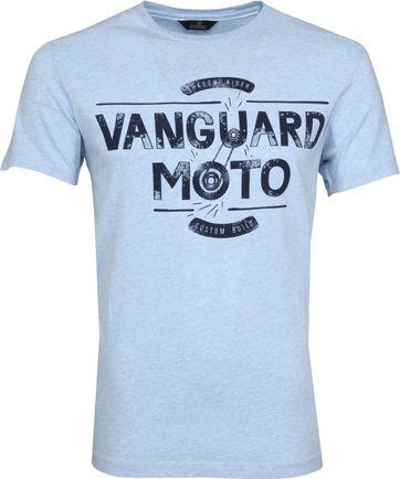 Vanguard T-shirt Light Blue Print