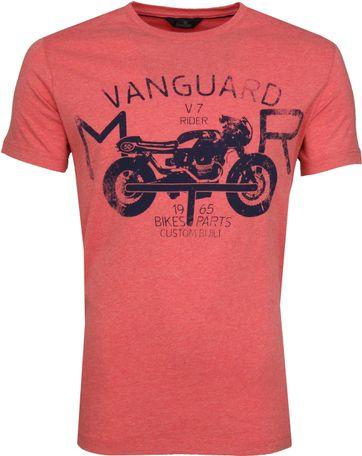 Vanguard T-shirt Print Pompeian Rot
