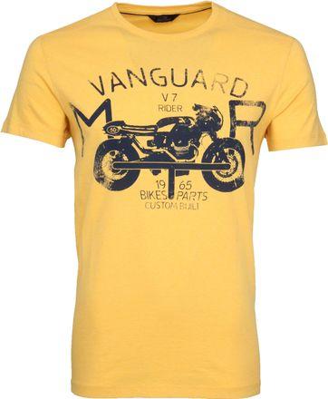 Vanguard T-shirt Print Samoan Sun Geel