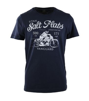 Vanguard T-shirt Salt Flats Donkerblauw