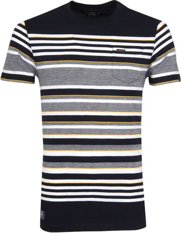 Vanguard T-shirt Streifen Dunkelblau