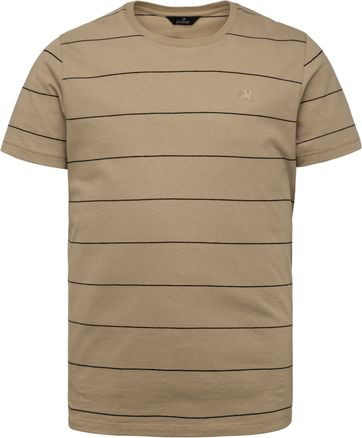 Vanguard T Shirt Stripes Light Brown