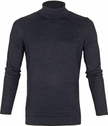 Vanguard Turtleneck Pull Navy