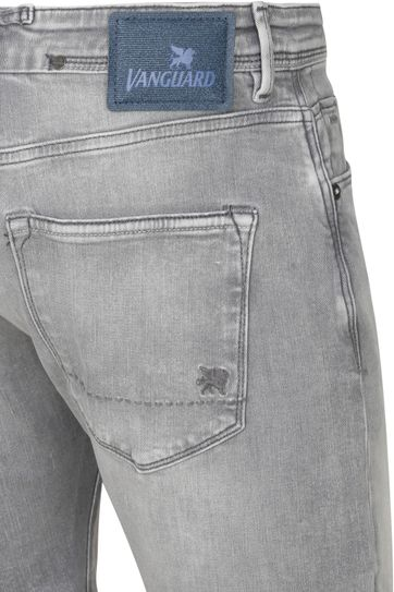 Vanguard V18 Rider Jeans Short Grau